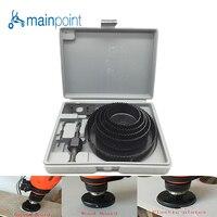 Mainpoint 8Pcs DIY Woodworking Hole Saw Drill Bit Kit 64 127mm Cutting Wood PVC Plate