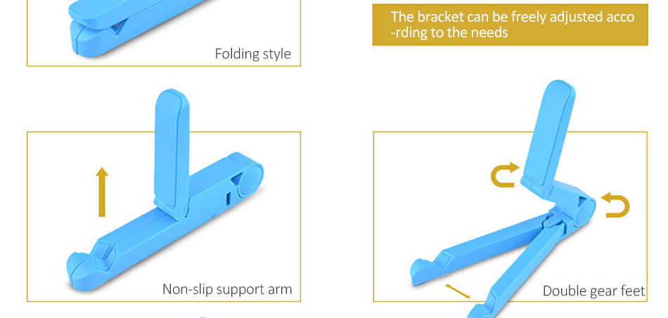 !ACCEZZ ABS Universal Phone Holder For iPhone X 8 7 6s Plus Stand Support For iPad Desktop 180 Degree Adjustable Tablet Bracket (5)