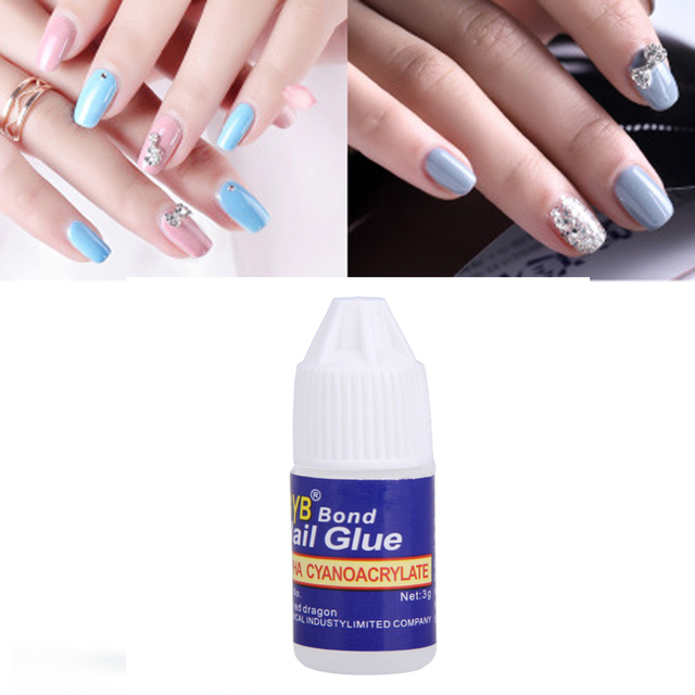 1pcs super professional nail glue false nail sticky stickers rhinestones decorations manicure tool adhesive liquid glue-in Liquid Glue from Office & ...