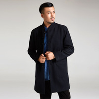 2018 Satijnen Pakken Jun Wind Chinese Ink Manufacturers Selling Qiu Dong Outfit Male Trench Coat In Style Wool Long 619710 1