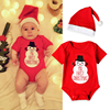 My First Christmas Baby Boys Romper Casual Baby Girls Clothes Newborn Long Sleeve Jumpsuit+Lovely Hat Clothing Sets
