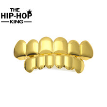 Silver Color Top Bottom Teeth GRILLZ  Mouth Teeth Caps Hip Hop Grills with Silicone mode
