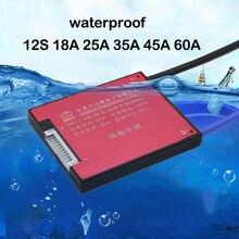 E bike 12S 36V lifepo4 LiFe scheda di protezione della batteria 15A 20A 30A 40A 60A litio ferro carica bilancia Li ion BMS 3.2V