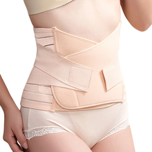 Mambobaby Natural después del embarazo Mujer Body Shaper Abdominal Binder Belly Bellyband Staylace Binding Belt Girdling Waist