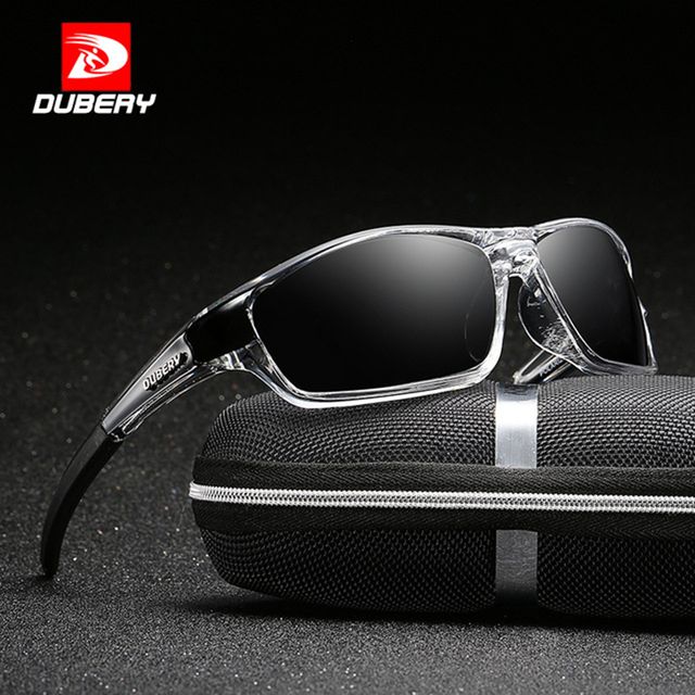 ead70ec248f DUBERY Polarized Sunglasses Men Driver Shades Male Vintage Sun Glasses For  Men Brand Design Spuare Mirror Summer UV400 Oculos