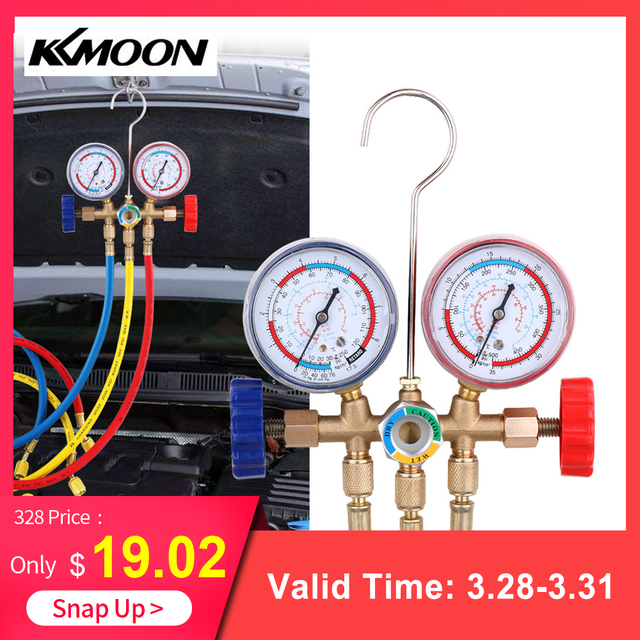 Air Conditioning Tools >> Us 20 92 45 Off Refrigerant Manifold Gauge Set Air Conditioning Tools With Hose And Hook For R12 R22 R404a R134a Air Condition Refrigeration In