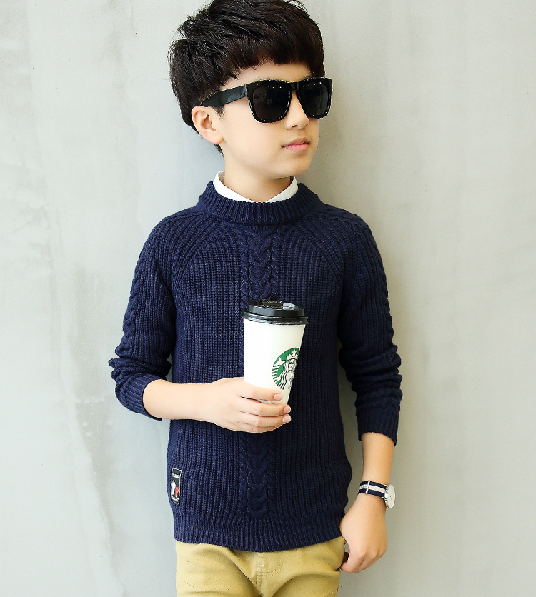 HTB1dlJzeLBNTKJjy1zdq6yScpXaE - 2019 winter children's clothing Boy's clothes pullover Sweater Kids clothes Cotton products Keep warm Boy sweater Thicker