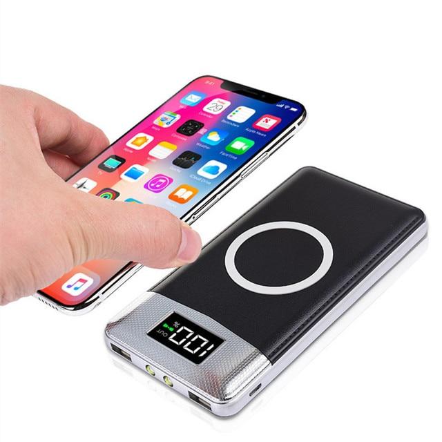 30000 мАч Внешний аккумулятор встроенный беспроводной зарядное устройство Портативный QI беспроводной зарядное устройство для iPhone samsung