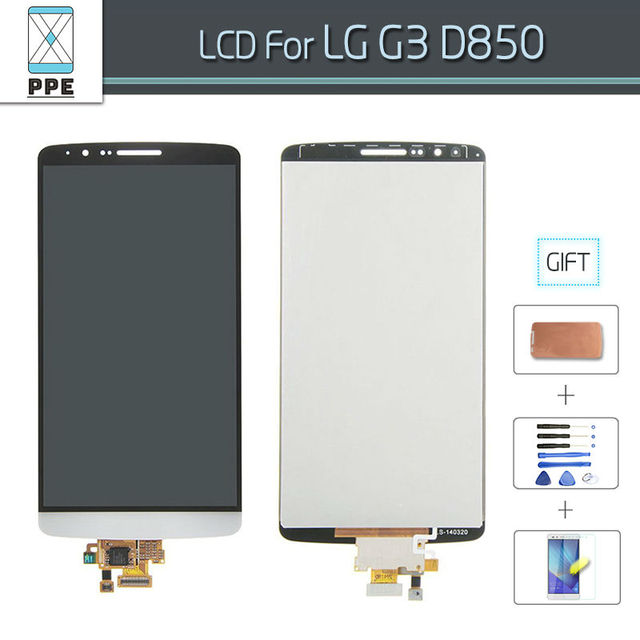 White Gray Gold 5.5 Inch Original LCD Screen for LG G3 D850 D855 LCD Display Touch Glass Digitizer Pantalla Replacement