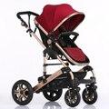 Europeu de Luxo Carrinho de Bebê Carrinhos De Alta Vista Dobrável Poussette Kinderwagen bebek arabas Russa atacado novo luxo Guarda-chuva
