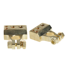 Free delivery Hot New 2 Pcs Gold Plated Gauge Car Battery Terminal Positive Nagative F 0/1 2 4 8 AWG Tool High Quality
