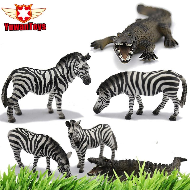 African Animal Hunting Scene Lifelike Animals Zebra Crocodil dea579aa0