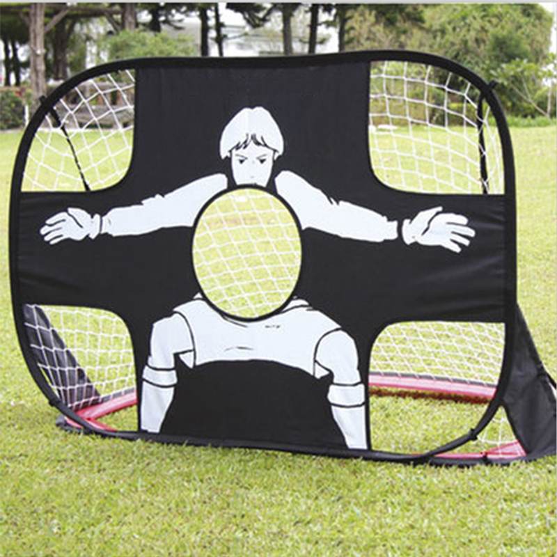 Generic Football Gate Teenager Soccer Goals Net Pop Up Tent Kids Outdoor Toys Sports Soccer Gate with Round Waterproof Carry Bag new durable 9 rung 16 5 feet 5m agility ladder for soccer and football speed training with carry bag fitness equipment ea14