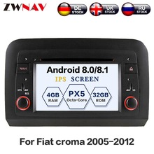Android 8.0 Car CD DVD Player GPS navigation For Fiat croma 2005-2012 auto stereo head unit SATNAV multimedia player 2 din radio