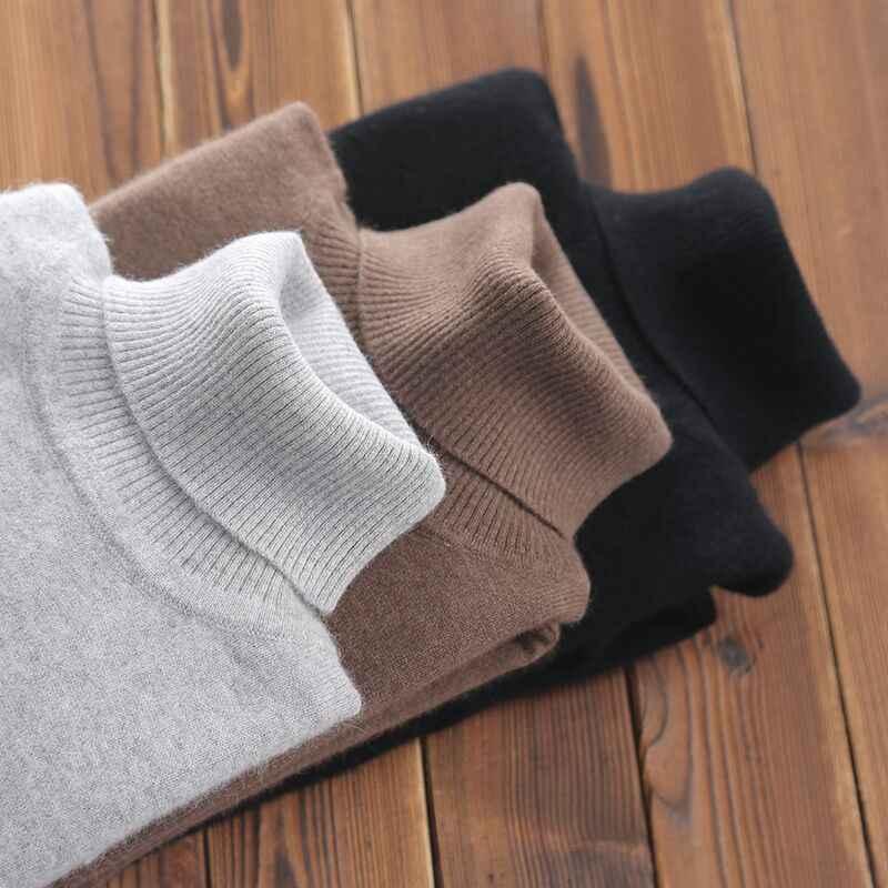 터틀넥 캐시미어 스웨터 남성 가을 겨울 의류 클래식 니트 로브 풀 옴므 풀오버 남성 스웨터