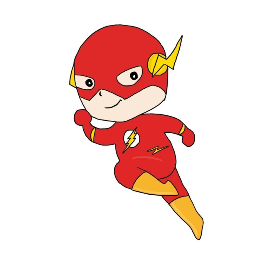 Comprar Dibujos Animados Flash Superhéroe Pared Arte Para Niños