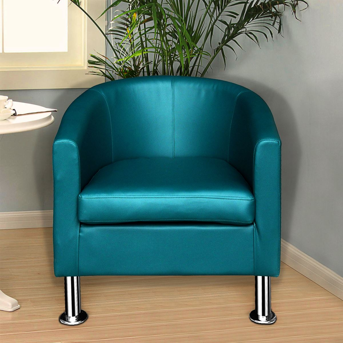 Panana Velvet / Faux Leather Tub Chair Armchair Club Chair Dining Living Room Cafe Padded Seat