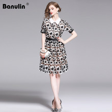 Banulin New Fashion 2019 Designer Runway self portrait Dress Womens Puff Sleeve Flowers Embroidery Retro Patchwork Lace