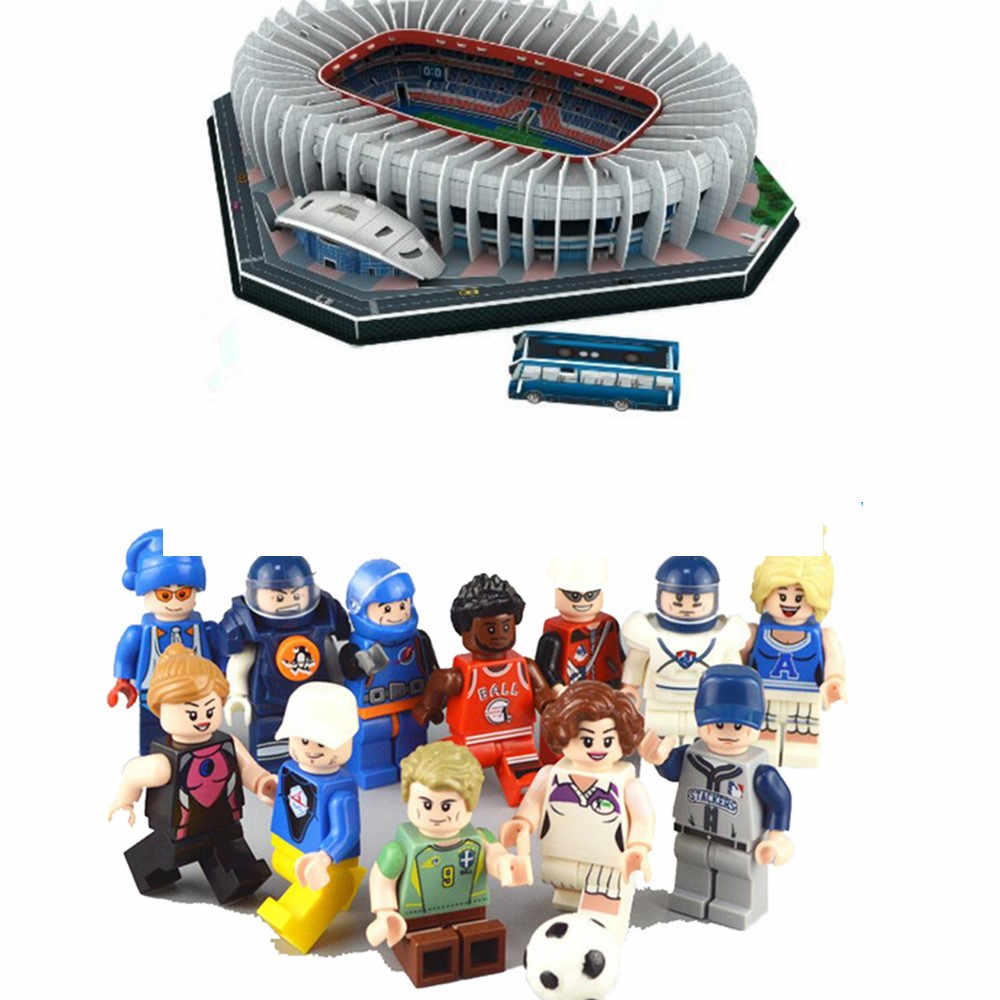 Classic Jigsaw 3D Puzzle Architecture Stadio France Parc des Princes Football Stadiums Toys Scale Paper Models Sets Building