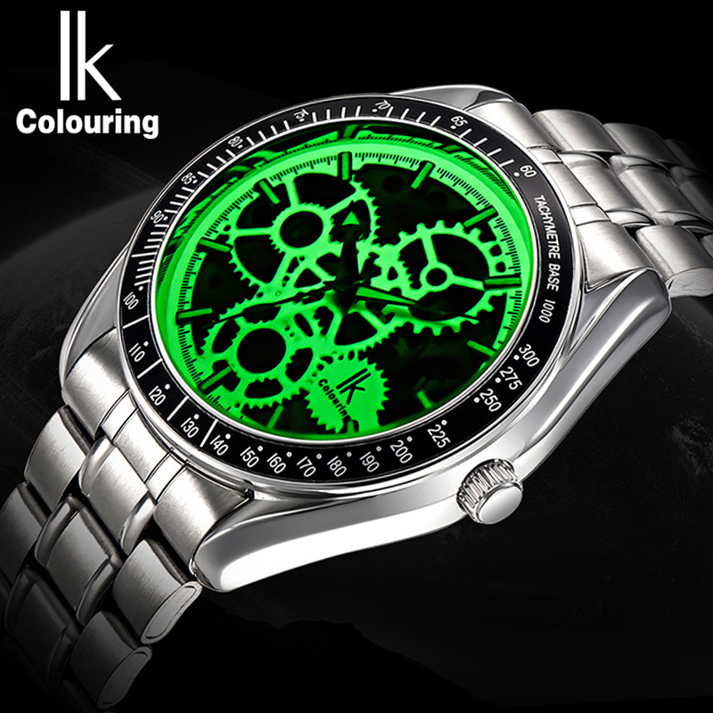 Luminous Skeleton Dial Automatic Watch Men Transparent Mechanical Wrist Watches Male Power Self Winding Stainless Steel Clock nbw0he6767 men s stainless steel skeleton mechanical self winding analog wrist watch grey white