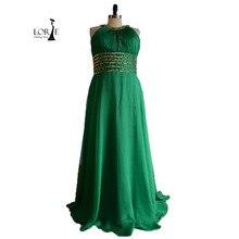 Smaragdgrünen Ballkleider 2016 Eine Linie Bördelte mit Strass Chiffon Echt Bild Evening Party Kleider vestidos de festa
