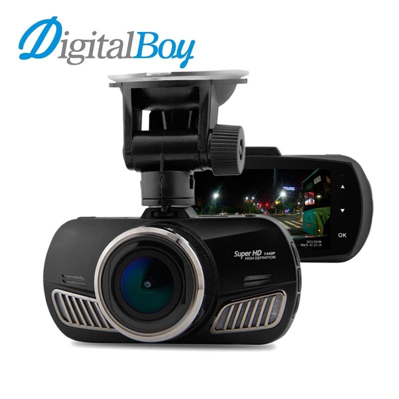 Digitalboy 2.7inch Car Dvr Super HD 1440P Resolution 170 Degree with GPS Logger Car Video Recorder Camcorder Dash Camera Dvrs