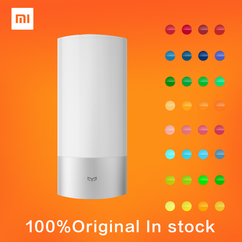 100% Original Indoor Xiaomi Yeelight Smart Wireless Control LED Bed Lamp 16 Million RGB Color Touch Control Smart Home Life original xiaomi mi night yeelight smart led lamp wifi remote control rgb light e27 colorful smart home illumination led bulb