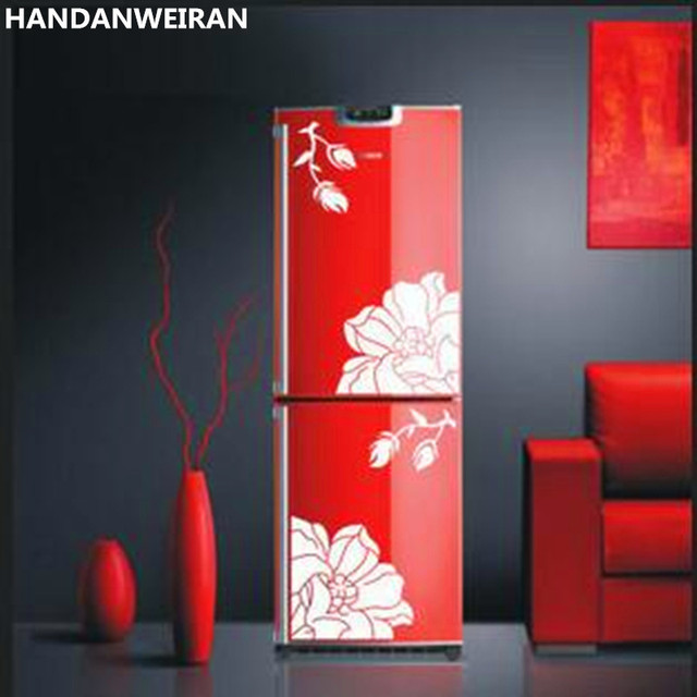 2piece Wall Flower Sticker Decals Dining Table Stickers Wardrobe Cabinet Glass Furniture Refrigerator Yulan Magnolia