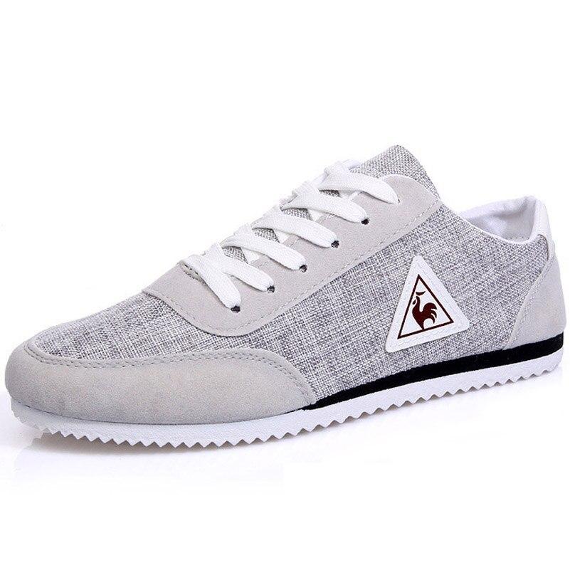 Nueva Marca de Los Hombres Zapatos Casuales de Encaje hasta Los Zapatos de Lona