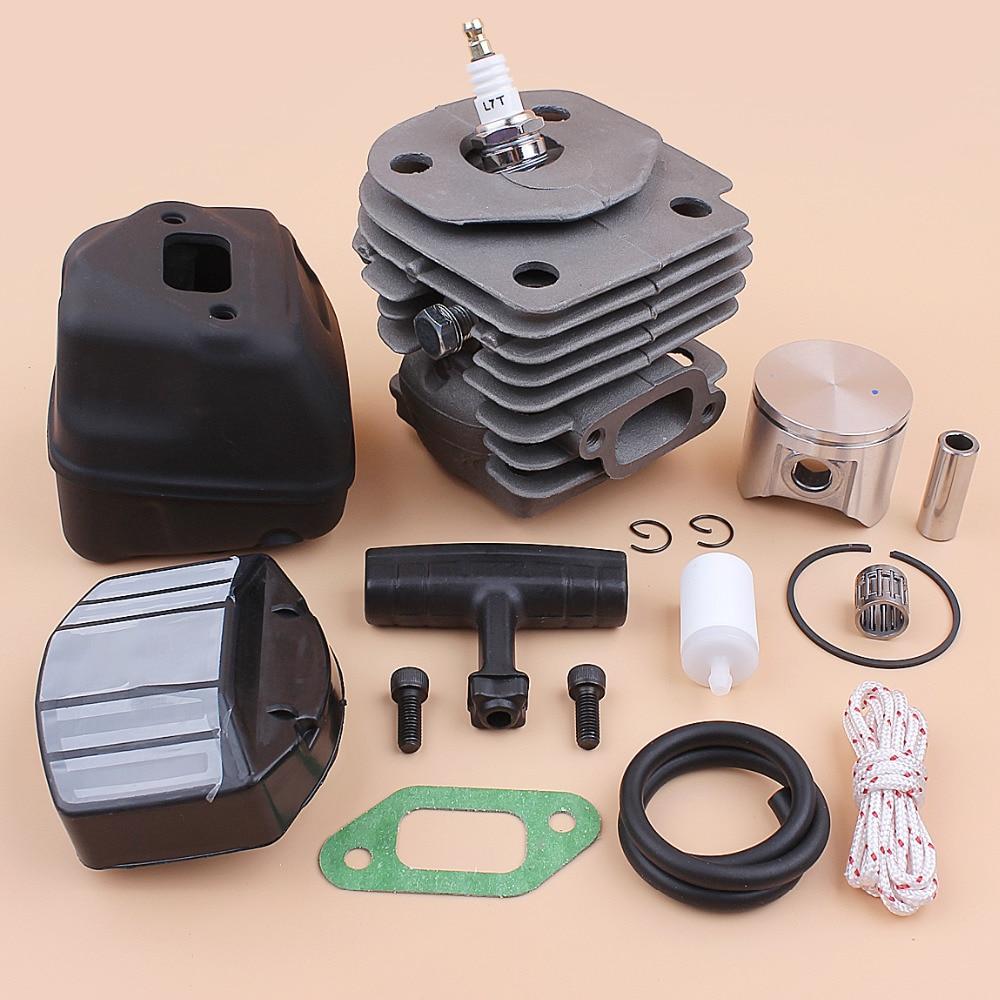 47mm Cylinder Piston Bearing Muffler Screw Air Filter Kit For HUSQVARNA 357 357XP 359 Chainsaw Engine Rebuild Parts 537157302