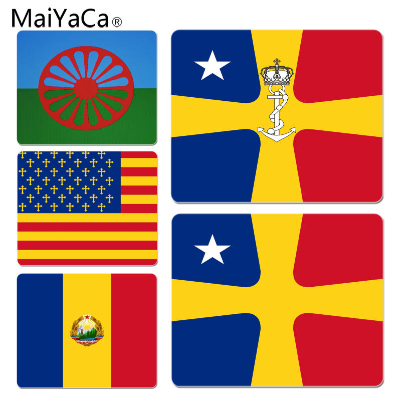 MaiYaCa 2018 New Roumania Flag Unique Desktop Pad Game Mousepad Size for 18x22cm 25x29cm Small Mousepad