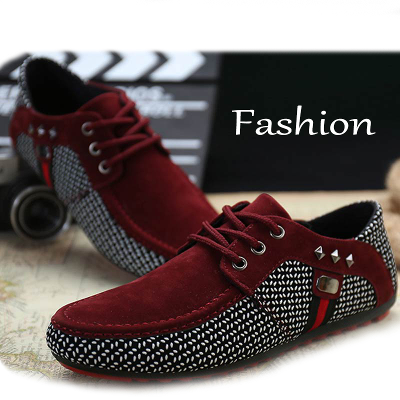 Luxury Men Shoes Loafers Moccasins Male Black Plus-Size Flats Breathable Lace-Up 46 Zapatos