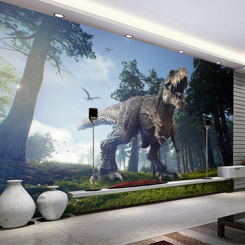 Custom 3D Photo Wallpaper Forest Dinosaur Stereoscopic Living Room Sofa TV Background Wall Decor Painting Large Mural Wallpaper vintage beautiful mahogany living room large mural wallpaper living room bedroom wallpaper painting tv background wall wallpaper
