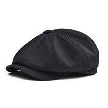 BOTVELA, кепка Newsboy, мужская, твил, хлопок, восемь панелей, шапка, женская, Baker, кепки для мальчиков, Ретро стиль, большие шапки, мужские, Boina, Черный берет, 003