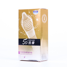 2019 Condom 5D Dotted Thread Ribbed G Point Latex Condoms Contraceptives Big Particle Spike Condom for Men Sex Products  12PCS(China)