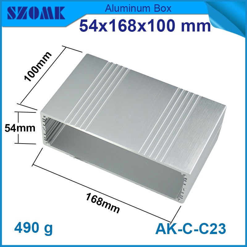 4 pieces metal electronic aluminum silver color enclosures 54 168 100mm metal router enclosure