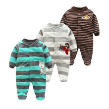 Newborn 12M baby boys  2018 spring baby Rompers soft Baby Boys romper warm fleece Baby Jumpsuit for kids boys Costumes