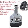 NewDC 12/24 в переменный ток 220 В USB 6 в автомобильный мобильный Инвертор адаптер автомобильный преобразователь питания зарядное устройство испо...