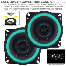 A Set 4 Inch 40W Car HiFi Coaxial Speaker Vehicle Door Auto Audio Music Stereo Full Range Frequency Speakers with Gasket for Car недорого