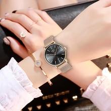 Relojes LIGE para mujer marca superior de lujo a prueba de agua reloj de pulsera ultrafino de acero inoxidable para mujer reloj de cuarzo