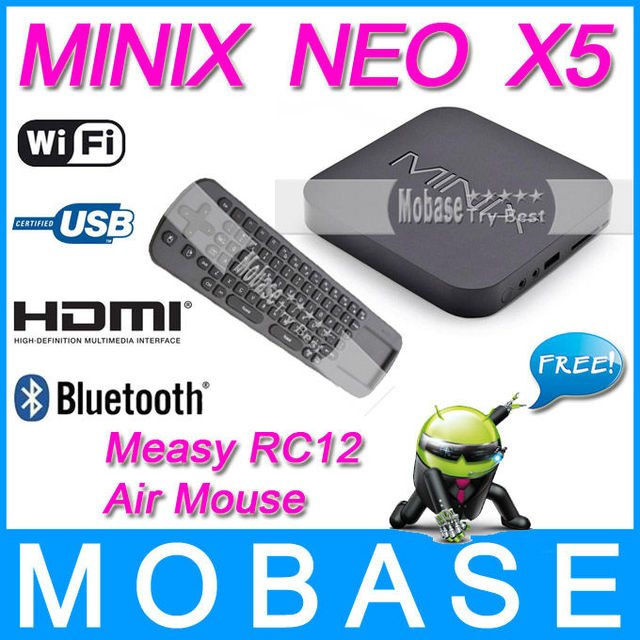 MINIX NEO X5 RK3066 Dual Core Cortex A9 Google Smart Android TV Box Wifi Bluetooth USB RJ45 HDMI [ Free Measy RC12 Air Mouse ]