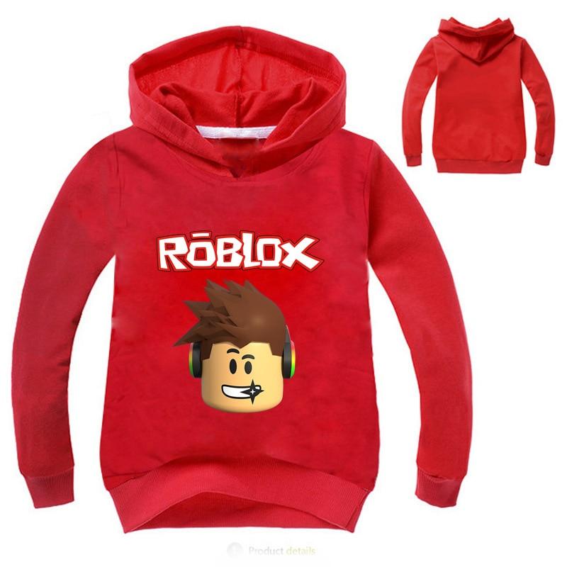ROBLOX Boys Girls Kids Cartoon Long Sleeve T-shirt Spring Fall Party Costumes