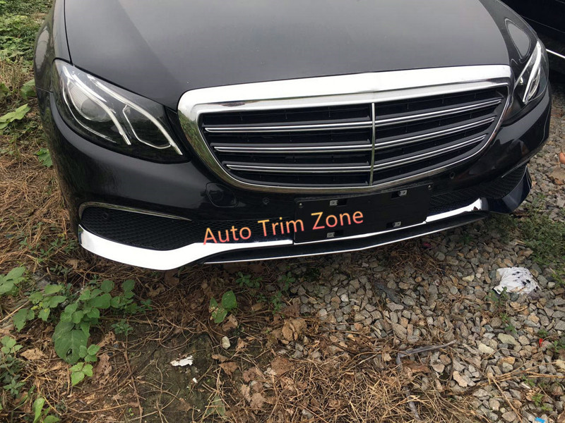 3pcs ABS Front Bumper Stripes Cover Trim For Benz E Class Sedan W213 2016 2017