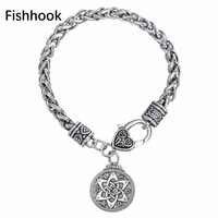 Anzuelo gótico Viking pulsera de plata de Color magia diseño encaje corsé colgante de Salomón nueva llegada de Metal pulsera barata