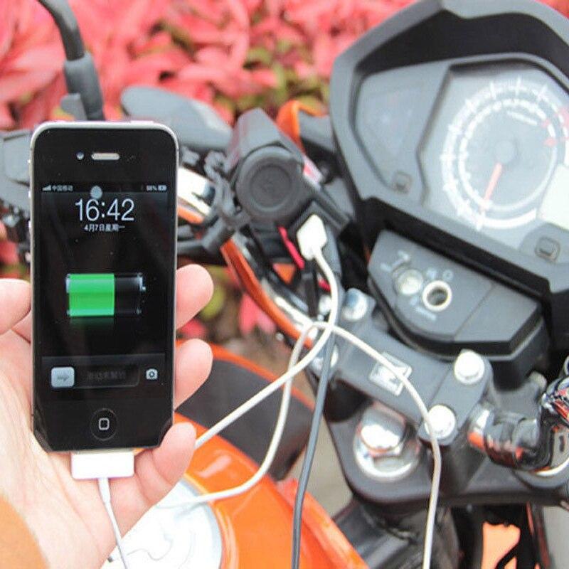 Impermeable 12 V motocicleta Moto USB Scooter encendedor de - Electrónica del Automóvil - foto 6