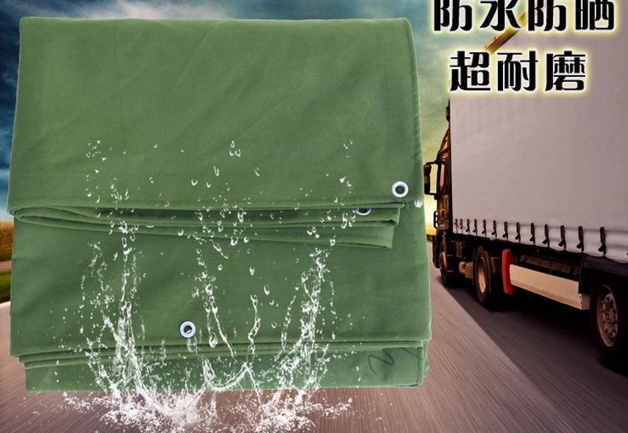 Custom very thick 600 g/sqm car truck organic silicon canvas, 2x2m waterproof sunscreen tarpaulins, green breathable canvas.