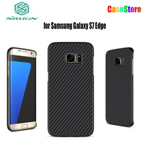 NILLKIN Synthetic Fiber Case For Samsung Galaxy S7 Edge Back Cover Case PP Back Shell For
