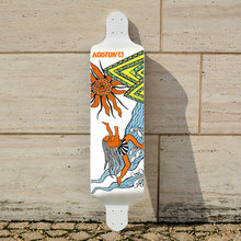 KOSTON pro drop down longboard deck 9ply canadian maple hot pressed,ship style long skateboard deck for downhill purpose