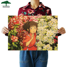 DLKKLB Anime Movie Spirited Away Famous Hayao Miyazaki Kraft Paper Cafe Bar Retro Poster Decorative Painting Art Wall Stickers(China)