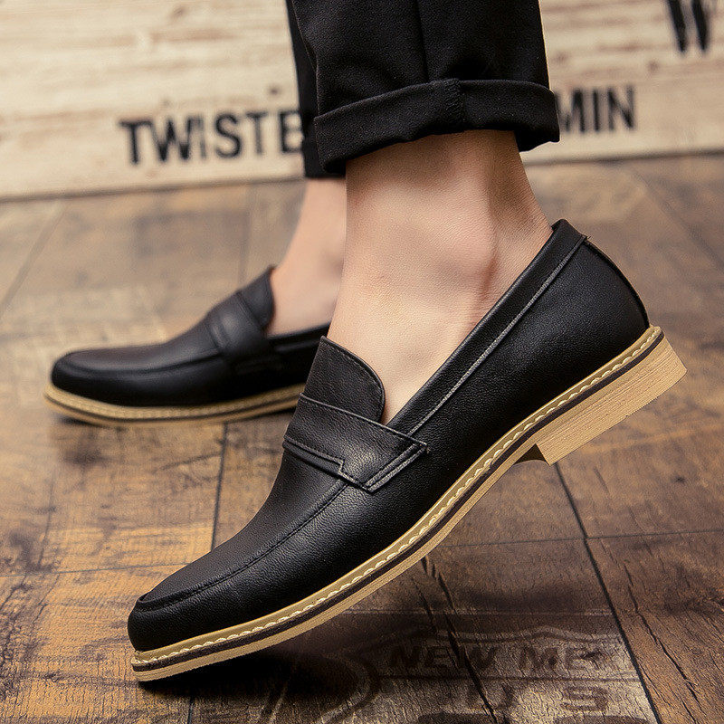LAISUMK Oxford Shoes for Men Leather 2019 Lace Up Front Men Dress Shoes Fashion Pointed Toe Men Shoes Leather Male Flats Luxury in Formal Shoes from Shoes